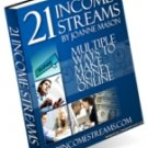 Joanne Mason's 21 proven Income Stream.Ebook pdf. Format.