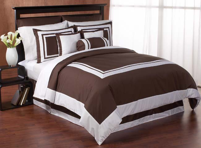 7 pc QUEEN SIZE BEDDING HOTEL DUVET COMFORTER COVER SET Item#5