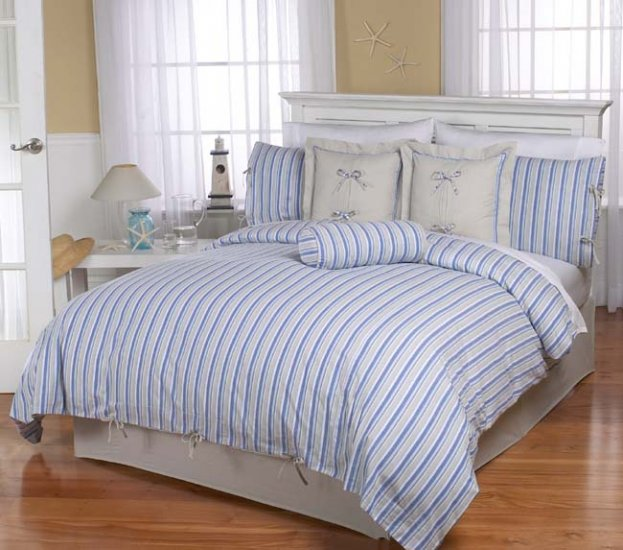 LUXURY STRIPED KING DUVET COMFORTER COVER BEDDING SET