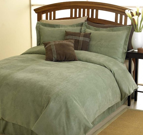 MESA MICROSUEDE QUEEN DUVET COMFORTER COVER 4p BEDDING Item#12