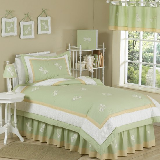 NEW DRAGONFLY 4p TWIN KIDS CHILDRENS BEDDING GIRLS SET