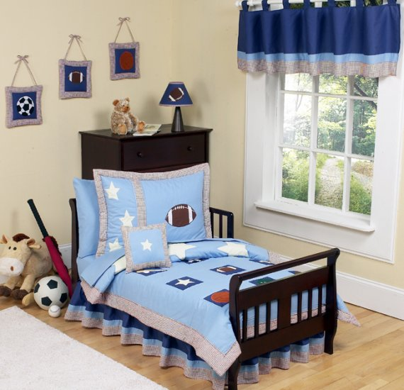 BOY 5pc SPORTS TODDLER KIDS CHILDRENS BEDDING SET