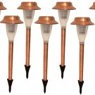 C2009 CASE OF 8 STAINLESS COPPER SOLAR LIGHTS OUTDOOR