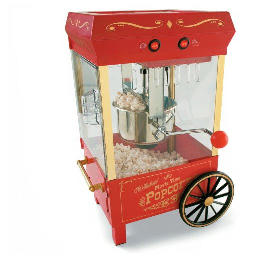 LARGE HOT OIL KETTLE POPCORN POPPER MACHINE MAKER NEW