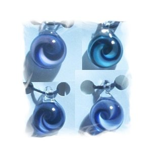 Handblown Glass Bead / Pendant - Swirl