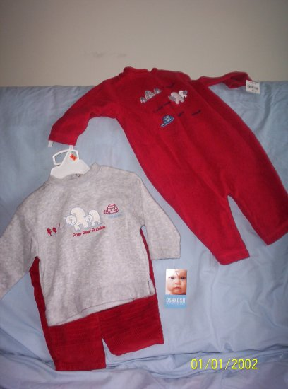 2 fleece sets OSH KOSH 3-6 months
