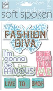 Me and My Big Ideas Soft Spoken Embellishments Sticker  Fashion Diva
