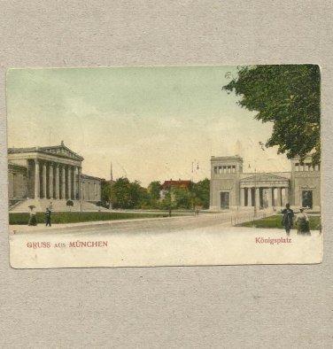 VINTAGE BAVARIA MUNCHEN POSTCARD 1903 WITH 5 PFENNIG POSTAGE STAMP