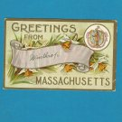 VINTAGE 1911 WINTHORPE MASSACHUSETTS POSTCARD WITH ONE CENT UNITED STATES STAMP