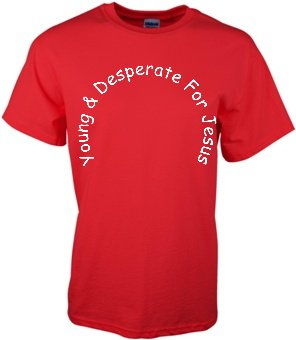 Young & Desperate For Jesus Youth size red