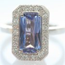 Vintige Estate Tanzanite Diamond 14KGold Cocktail Ring
