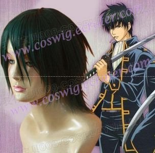 gintama Okita Sougo Nylon Cosplay Wig