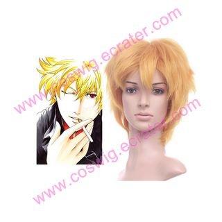 Gintama Kitar� Golden 35cm Anime Nylon Halloween Cosplay wig