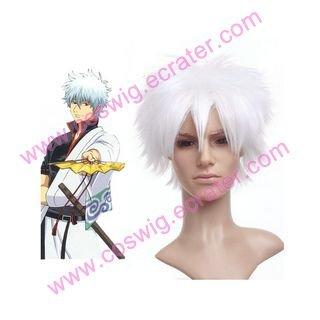 Gintama- Sakata Gintoki Nylon  Halloween Cosplay wig