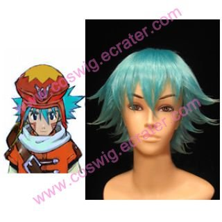 Hack  G.U Azure Kite Blue  Halloween Cosplay wig
