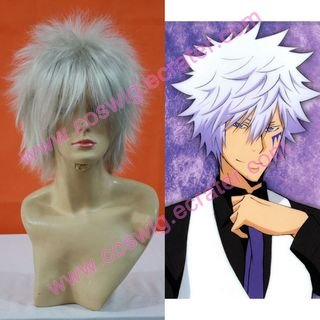 Reborn Byakuran Halloween  Cosplay Wig