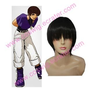 King of Fighter 97 Chris  Halloween  Cosplay Wig