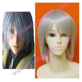 Kingdom Hearts Riku Silver  Halloween Cosplay Wig