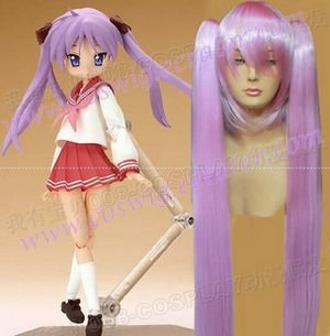 Lucky star  Hiiragi Kagami model 2   Halloween Cosplay Wig