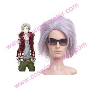 Light Purple Starry Sky Nanami Kanata 35cm Anime Nylon  Halloween Cosplay Wig
