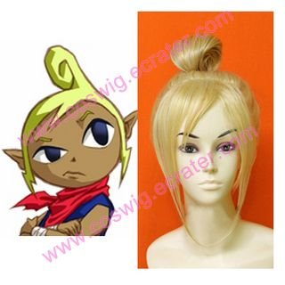 The Legent of Zelda Phantom Hourglass Cosplay Tetra  Halloween Cosplay Wig