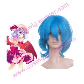 Deep Blue 40cm Touhou Project Remilia Scarlet Nylon  Halloween Cosplay Wig