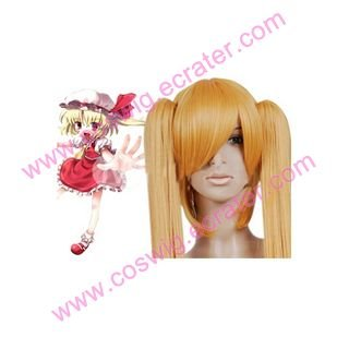 Touhou Project Flandre Scarlet Nylon   Halloween Cosplay Wig