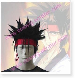 Rurouni Kenshin Sanosuke Sagara Halloween Cosplay Wig