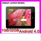New latest model innovative THIN tablet 9.8mm, screen size 9.7in 32gb android 4.0 color black