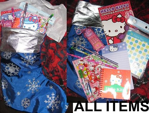 BRAND NEW Hello Kitty Christmas Stocking with goodies! #3