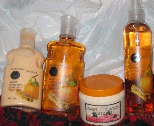 Bath & Body HTF Sweet Cinnamon Pumpkin scrub spray gel lotion!!