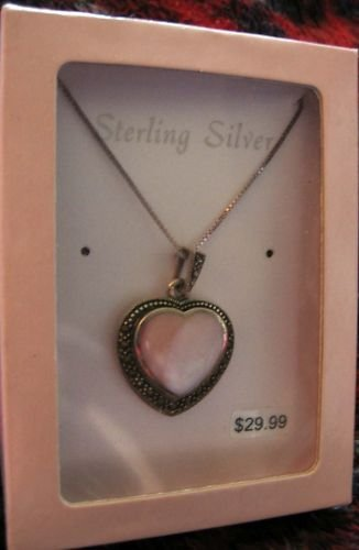 Sterling heart pendant necklace in gift box