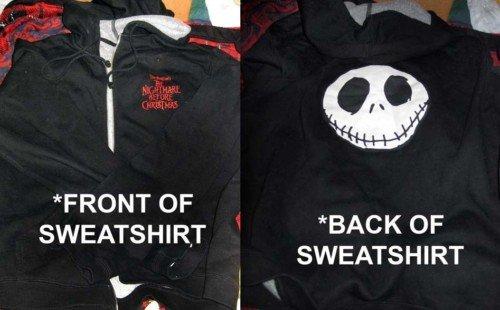 Disneyland Jack Nightmare Before Sweatshirt Adult Med