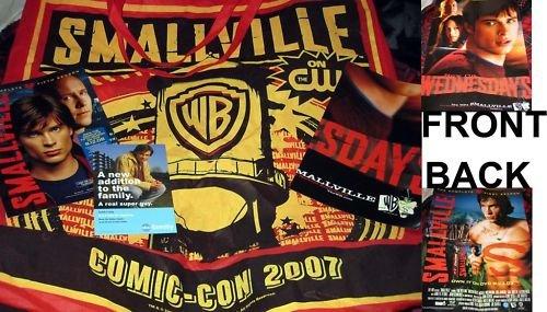 RARE HTF Comic Con SMALLVILLE bag! Season 1 poster + MORE!