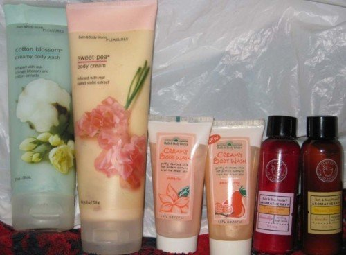 Bath & Body Works set of lotions gels Cotton Blossom +