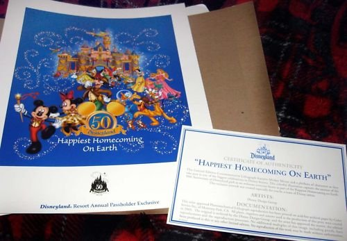 EXCLUSIVE Happiest Homecoming 50th Ann Disneyland Litho