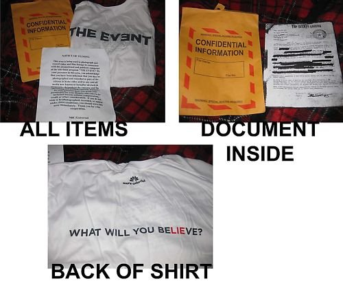 NBC The Event RARE promotional items!