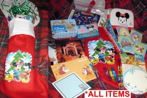 Disney Christmas Stocking w/school supplies stickers +more! Personalized Option!