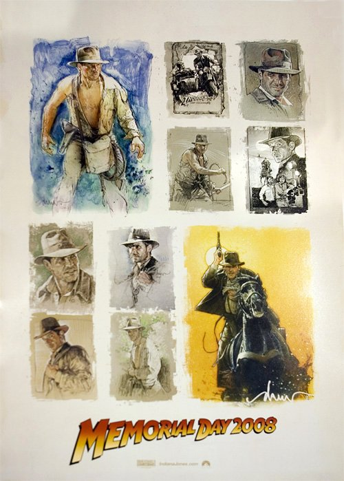 RARE promo Indiana Jones Comic Con SDCC poster! Raiders Temple Crusade