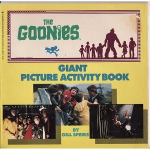 VERY RARE VINTAGE The Goonies Giant Picture Activity Book by Gill Speirs from 1985!
