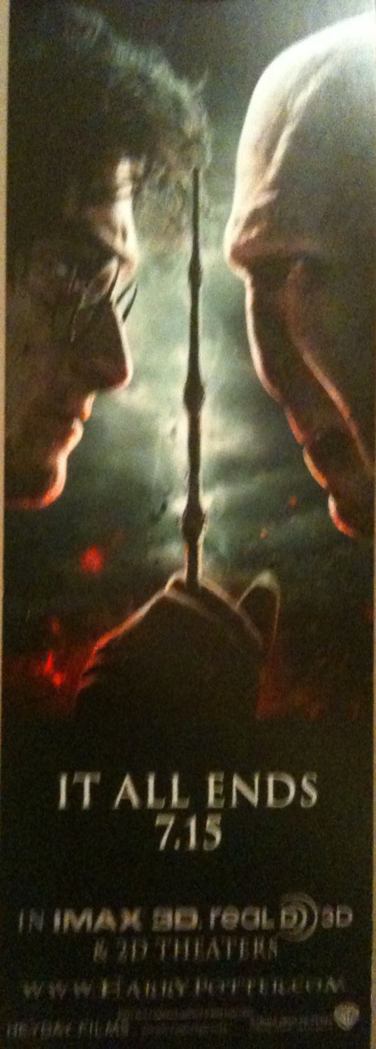 Harry Potter and the Deathly Hallows Part 2 double sided bookmark!