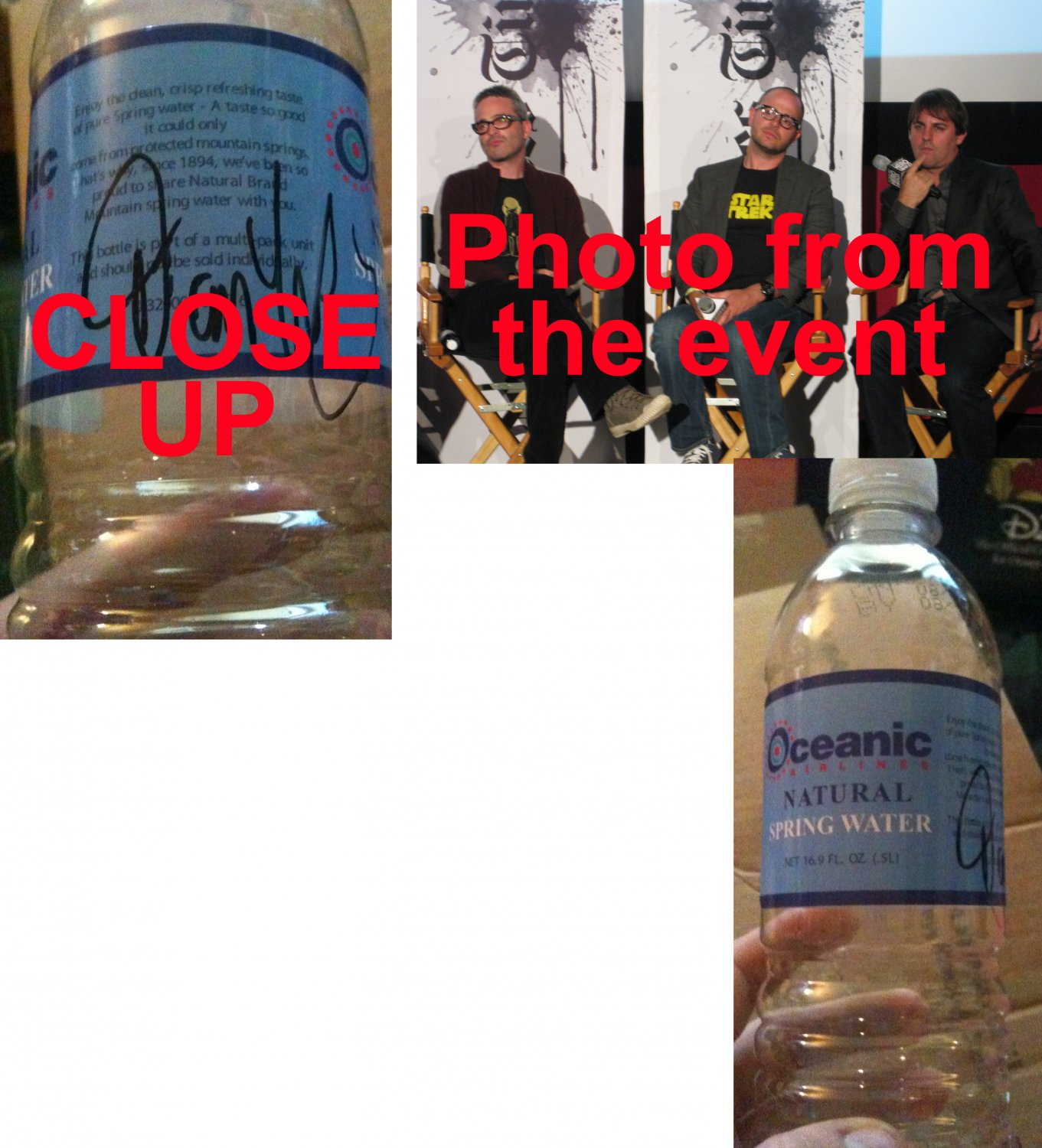 EXTREMELY RARE Lost Auction Oceanic Airlines Bottle - SIGNED BY CO-CREATOR DAMON LINDELOF!
