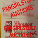 RARE 1985 promo Goonies Hi-C mail in form for Story Card Adventure Map Set