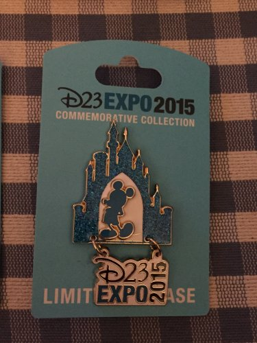 2015 D23 Expo WDI Imagineering Commemorative Disneyland Castle Mickey Pin LE2500