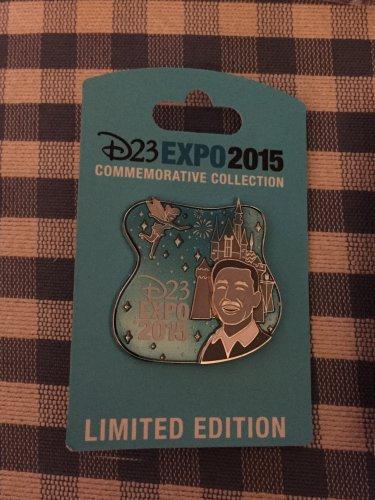 D23 Expo 2015 Imagineering Disneyland Walt's Kingdom Walt Tinker Bell pin LE2500