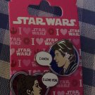 SOLD OUT LE Disneyland Valentine's Day STAR WARS Han Solo Princess Leia Pin Set!