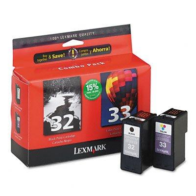 New Genuine Lexmark 32/33 Black + Color Ink Cartridges