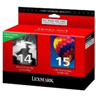 NEW GENUINE Lexmark 14/15 Black Color Ink Cartridges