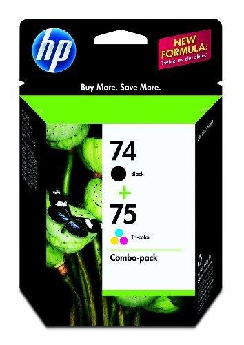 New Genuine HP 74 + 75 Combo Ink Cartridges