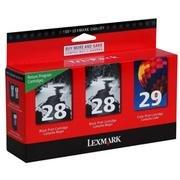 NEW GENUINE Lexmark 28 28 29 Tri-Pack Ink Cartridges